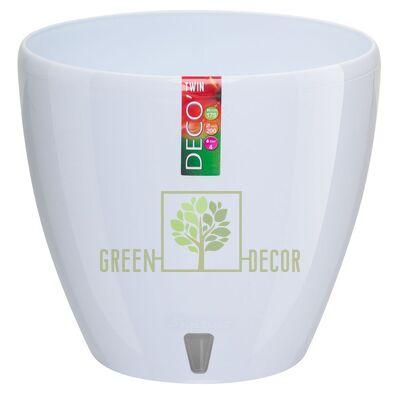 Горщик для квітів DECO-TWIN 5,8 л білий