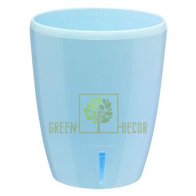 Вазон с автополивом Орхидея TWIN голубой  1,3 л
