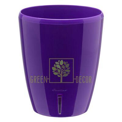 Вазон Орхидея TWIN фиолетовый 2 л