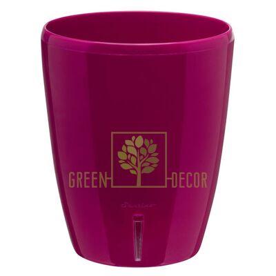Вазон с автополивом Орхидея TWIN пурпурный 2 л