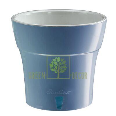 Горшок с автополивом DALI 3,5 л дымчато синий-серый