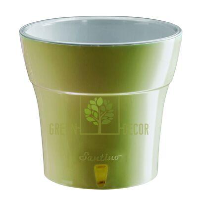 Горшок с автополивом DALI 1,2  л оливковый-серый