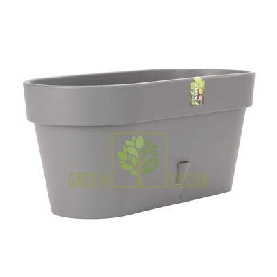 Умный вазон LATINA WINDOWS BOX 6,7 л. серый