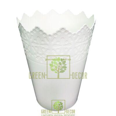 Горшок для цветов КОРОНА-150 2 л белый