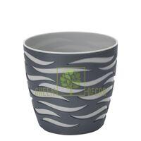 Горшок для цветов Сахара Дуо-14 1,65 л антрацит-серый
