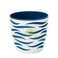 Горшок для цветов Сахара Дуо-14 1,65 л белый-синий