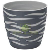 Горшок для цветов Сахара Дуо-18 2,9 л антрацит-серый