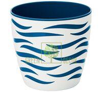 Горшок для цветов Сахара Дуо-18 2,9 л белый-синий