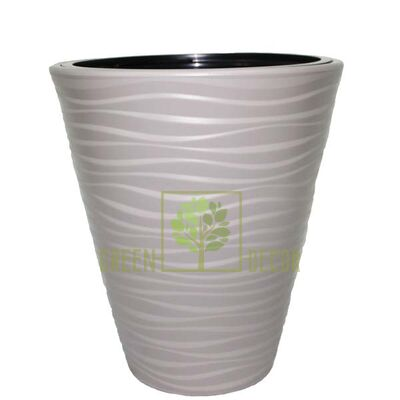 Горшок САХАРА-35 серый напольный  3D