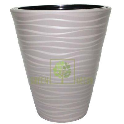 Горшок САХАРА-40 серый напольный  3D