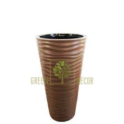 Горшок САХАРА СЛИМ-30 коричневый напольный  3D