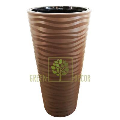 Горшок САХАРА СЛИМ-40 коричневый напольный  3D