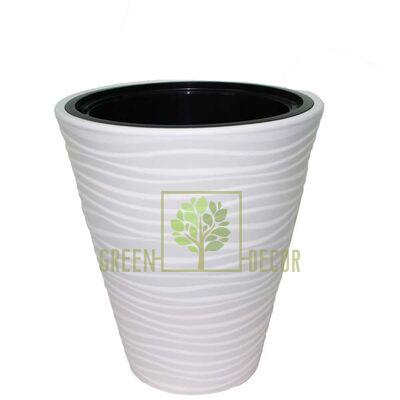 Горшок САХАРА-30 белый напольный  3D