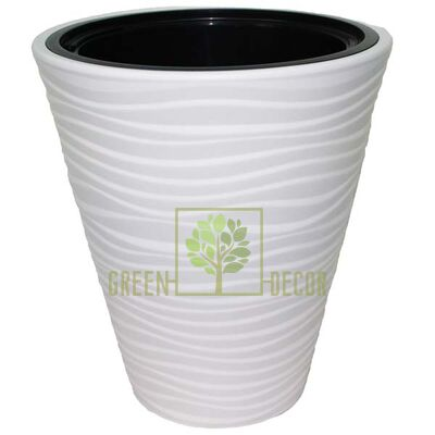 Горшок САХАРА-40 белый напольный  3D