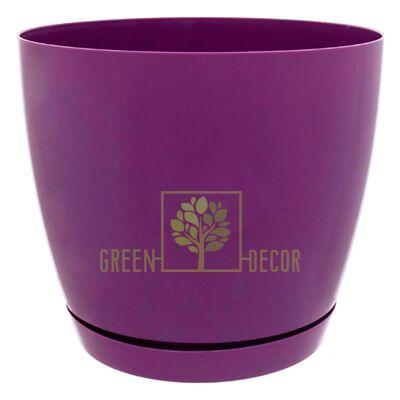 Горшок для цветов Тоскана круглая-15 2,2 л фиолетовый