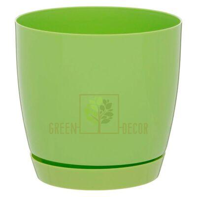 Горшок для цветов Тоскана круглая-11 0,8 л светло-зеленый