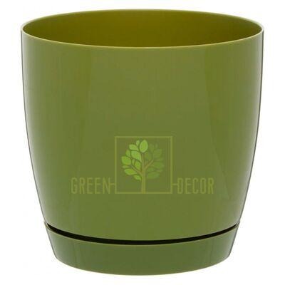 Горшок для цветов Тоскана круглая-17 3 л оливковый