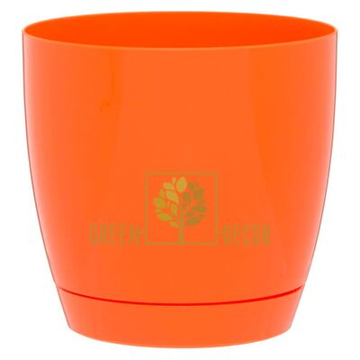 Горшок для цветов Тоскана круглая-11 0,8 л оранжевый