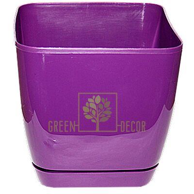 Горшок для цветов Тоскана Квадро-19 5 л фиолетовый