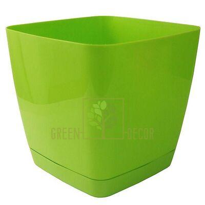 Горшок для цветов Тоскана Квадро-11 1 л светло-зеленый