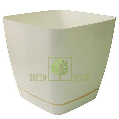 Горшок для цветов Тоскана Квадро-19 5 л белый