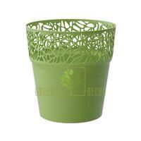 Кашпо для цветов NATURO-12 0,6 л оливковый
