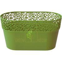 Кашпо для цветов NATURO-ОВАЛ 2,4 л оливковый