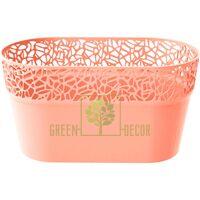 Кашпо для цветов NATURO-ОВАЛ 2,4 л персиковый