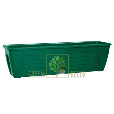 Балконный вазон с автополивом LIDO-60 см, 12,3 л зеленый