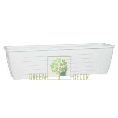 Балконный вазон с автополивом LIDO-60 см, 12,3 л белый