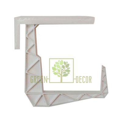 Крепление-крюк для балконного ящика белый