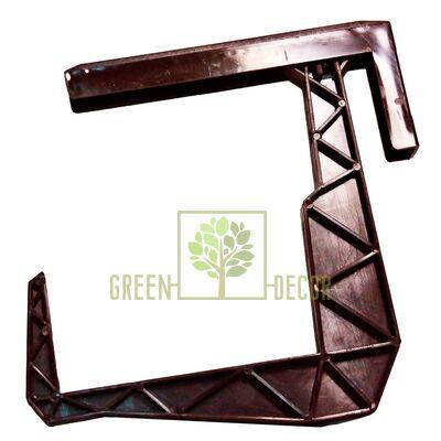 Крепление-крюк для балконного ящика коричневый