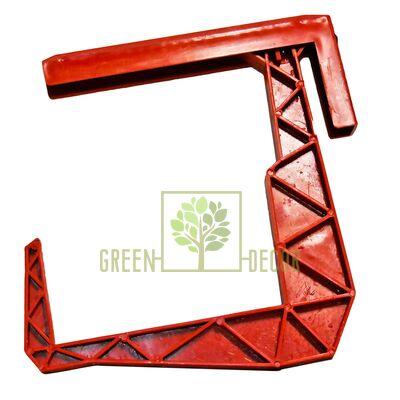 Крепление-крюк для балконного ящика терракотовый