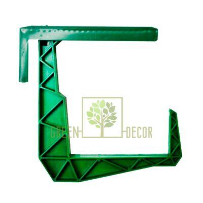Крепление-крюк для балконного ящика зеленый
