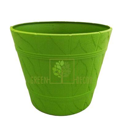 """Горшок для цветов """"Дерево ЭЛЬБА-7"""" зеленый 36 л"""