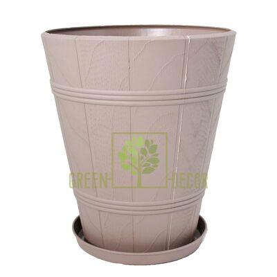 Под дерево Горшок Дерево ПАЛЬМА-4 серый 20 л от Form-Plastic |Green Decor