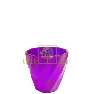 Мини кашпо для цветов Волна-6,5 0,15 л хамелеон-прозрачный