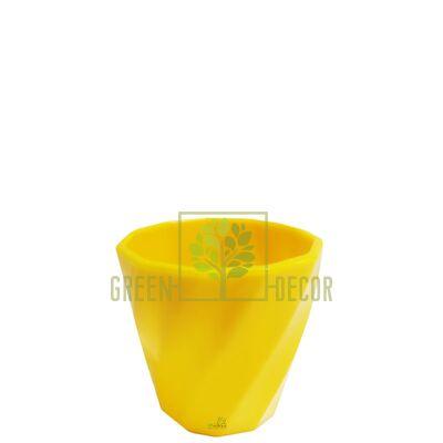 Мини кашпо для цветов Волна-6,5 0,15 л желтый