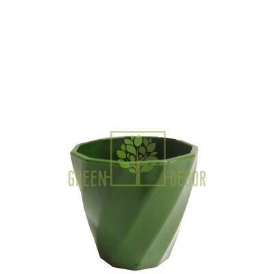 Мини кашпо для цветов Волна-6,5 0,15 л оливковый