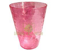 Кашпо для орхидей Диамант мини Орхидея-13 1,12 л прозрачно-розовый