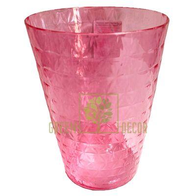 Кашпо для орхидей Диамант Орхидея 1,12 л прозрачно-розовый пластик