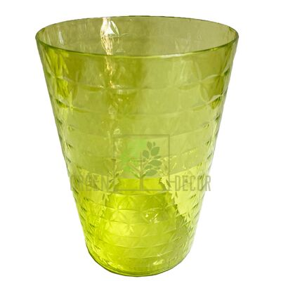 Кашпо для орхидей Диамант Орхидея 1,12 л прозрачно-салатовый пластик