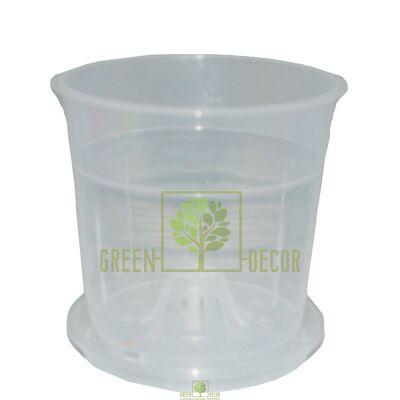 Горшок для орхидей с боковыми отверстиями прозрачный  1,1 л