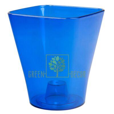 Орхідейниця квадратна-17 синя 3 л