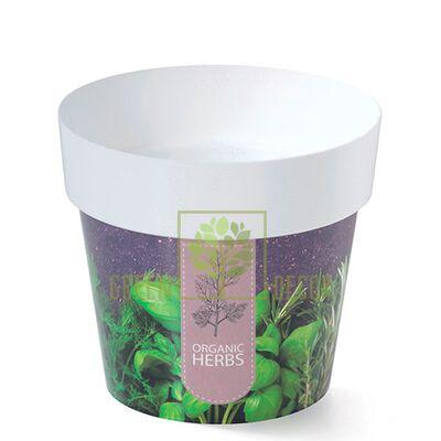 Горшок для цветов IML-14 1,3 л с принтом Прованские Травы
