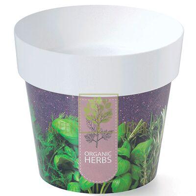Горшок для цветов IML-16 2 л с принтом Прованские Травы