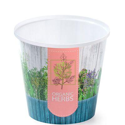 Горшок для цветов IML-высокий-13 1 л с принтом Прованские Травы