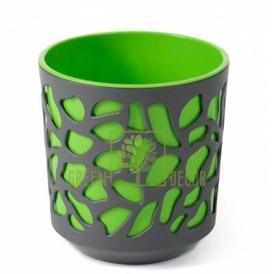 Горшок для цветов Дуэт-19 антрацит-зеленый