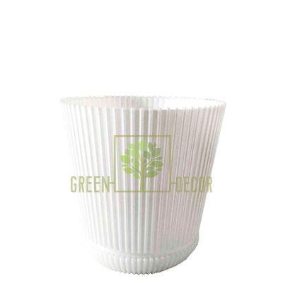 Рельєфні Горщик для квітів Геліос-11 білий 0,75 л від Україна  Green Decor