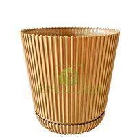Горшок для цветов Гелиос-15 золотой 1,75 л